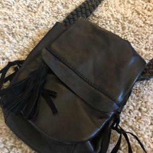 Leather boho crossbody bag